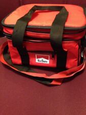 Vintage Promotional Marlboro Insulated 6 Pack Cooler Soft Red Lunch Tote Bag