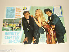 BARBARA BOUCHET CICCIO E FRANCO clipping articolo fotografia 1983 AT11