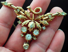 Crown TRIFARI Alfred Philippe Gold over Sterling Vermeil Crystal Rhine Necklace