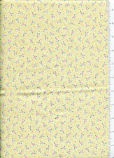 2001 mary engelbreit ~ TINY PINK ROSES ~ fabric on yellow