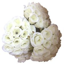 4x 13 Heads Bunch Rose Silk Flowers Artificial Rose Wedding Party Bridal Bouquet
