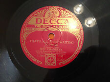 """JEFF CHANDLER """"Lamplight""""/""""That's All She's Waiting To Hear"""" 78rpm 10""""  EX/NM"""