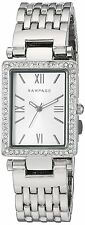 Rampage Watch Rectangular Silver Tone Dial Bracelet Quartz Womens Watch RP1044SL