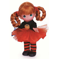 Precious Moments 9 Inch Doll, Happy Halloween, Black Sweater w/Pumpkin New, 3524