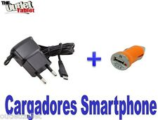CARGADOR de PARED para SMARTPHONE ZTE ORANGE ZALI + cargador mechero USB