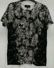 Ladies knitwear top size 14 from Next black soft feel fabric lace detail BNWT