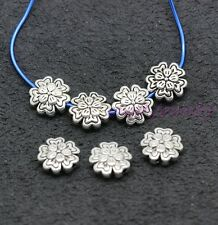 Tibetan Silver Flowers Bail Style Spacer Beads 10mm 30-1000pcs hole 1mm
