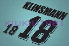 Germany klinsmann #18 World Cup 1994 Homekit Nameset Printing