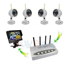 New Wireless IR Night Vision Outdoor Waterproof 4 Cameras DVR Receiver System