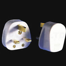 UK 13A WHITE MAINS PLUG 13 AMP 3 PIN APPLIANCE FUSE POWER click