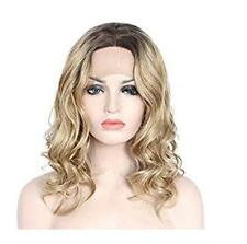 Hot Women Long Curly Wavy Hair Full Wigs Cosplay Black Root Ombre Blonde Wigs