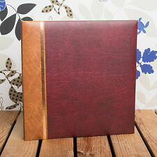 Self Adhesive Photo Album *Holds 12x10 inch Photos* Traditional Burgundy Cover