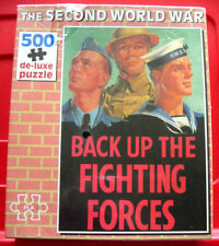Second World War BACK UP THE FIGHTING FORCES Poster 500 Jigsaw Puzzle NEW SEALED