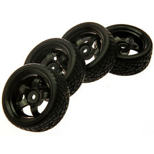 4pcs 12mm Hub Wheel Rims & Rubber Tires for RC 1/10 on-road Touring Drift Car