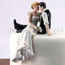 Romantic Resin Wedding Cake Topper Bride Groom Couple Hug Kiss Bridal Decoration