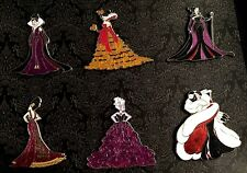 Disney Store Designer Villains 6 Pin Set Ursula Maleficent Gothel Queen LE200