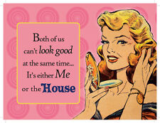 Both of us can't look good, Retro Gift, Girl, Makeup, Novelty Fridge Magnet