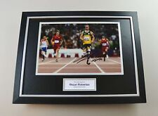 Oscar Pistorius Signed Photo Framed 16x12 Blade Runner Autograph Display + COA