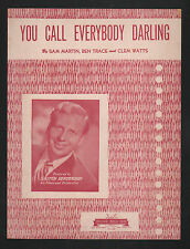 You Call Everybody Darling Skitch Henderson, 1st bandleader of The Tonight Show