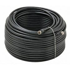 BoostWaves 100ft Rg6 Coaxial Cable for Tv Satellite Cable BLACK HDTV Low Loss