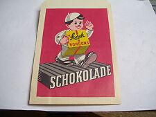 alte STORCK Bonbons Schokoladentüte Schokolade Kronen Serie Sahne Halbbitter