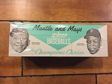 VINTAGE 1963 TRANSOGRAM MICKEY MANTLE WILLIE MAYS ZIPEE BASEBALLS SUPER RARE