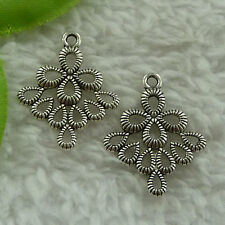 free ship 144 pcs tibet silver earring connector 26x21mm #4042