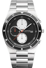 Bering Men's Chronograph Solar Black Ceramic Stainless Steel Watch 34440-702
