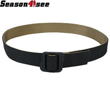 Tactical Military Double-Sided Nylon Army Waist Belt Black & Coyote Brown Size L