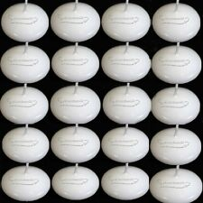 20pcs White Floating Candle Table Centrepiece Pool Round 1.5h Burn Time For Xmas