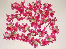 Lot 5 appliques★Petit fleur Rose Fusht★Embellissement Couture scrapbooking 4 cm
