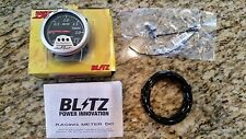 NEW JDM BLITZ DC BOOST GAUGE - RACING METER turbo 60mm 19204 motor