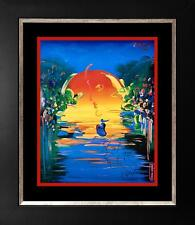 Peter Max Mixed Media on paper A Better World Lot 5582