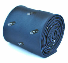 Frederick Thomas navy blue mens tie with with usb stick design FT1917
