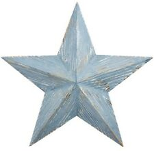 Large Shabby Chic Distressed Blue Wooden HANGING STAR Wall Art next day desp