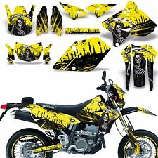Decal Graphic Kit Suzuki DRZ400  SM E Dirt Bike Sticker w Backgrounds REAP YELLW