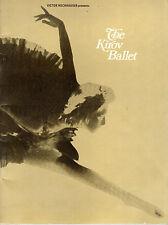 """SOUVENIR PROGRAMME - NATALIA MAKAROVA'S """"GISELLE"""" - 1970 KIROV BALLET IN LONDON"""
