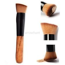 Fashion Women Makeup Fan Brush Foundation Stipple Fiber Face Wood Blush Powder