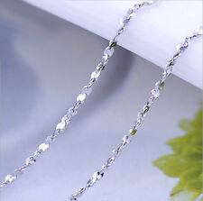 Neu Massivem 925 Sterling Silber Schlangenkette Halskette 18in  Frauen