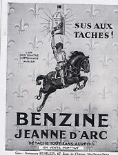 PUBLICITE ADVERTISING 044 1928 BENZINE JEANNE D'ARC détache tout sans auréole