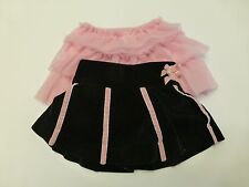 2 Baby Girls Size 12M Black & Pinks Skirt Lot Great Condition