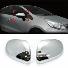 Chrome Side Mirror Cover Molding Garnish Trim LH+RH for KIA 2012-2017 Rio Pride