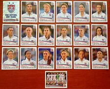 SET 2015 USA Soccer Panini Stickers Incl ALEX MORGAN ++ Womens World Cup 19 Diff