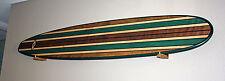 7FT Wood Hawaiian Surfboard Longboard Wall Art FREE WOOD HANGERS