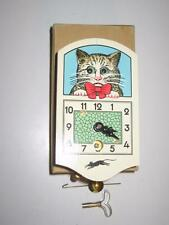 Vintage Working German Figural CAT Rolling Eyes Novelty Cuckoo Clock Germany