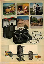 1950 ADVERT 2 PG Sawyer View Master Reels Projector Christmas Santa Claus Rudolp