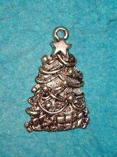Pendant Christmas Charm Christmas Tree Charm Holiday Charm Fir Tree Presents