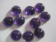 AAA Quality 10 Piece Natural Amethyst 10 MM Round Cabochon Gemstone Calibrated