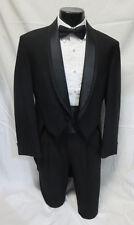 40L Mens Formal Black 100% Wool Oscar de la Renta Tuxedo Tailcoat Debutante Ball