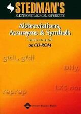 Stedman's Abbreviations, Acronyms & Symbols, Third Edition, for PDA: Powered by